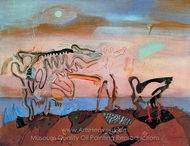 The Spectral Cow painting reproduction, Salvador Dali (inspired by)