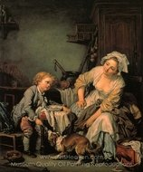 The Spoiled Child painting reproduction, Jean Baptiste Greuze