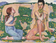 The Spring painting reproduction, Ferdinand Hodler