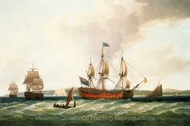 The St. George and Other Vessels painting reproduction, Dominic Serres