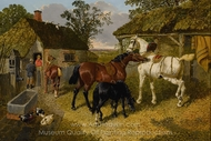 The Stable Yard painting reproduction, John Frederick Herring Sr.