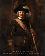 The Standard Bearer (Floris Soop) painting reproduction, Rembrandt Van Rijn