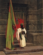The Standard Bearer (Unfolding the Flag) painting reproduction, Jean-Leon Gerome