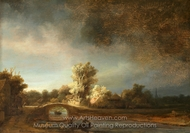 The Stone Bridge painting reproduction, Rembrandt Van Rijn