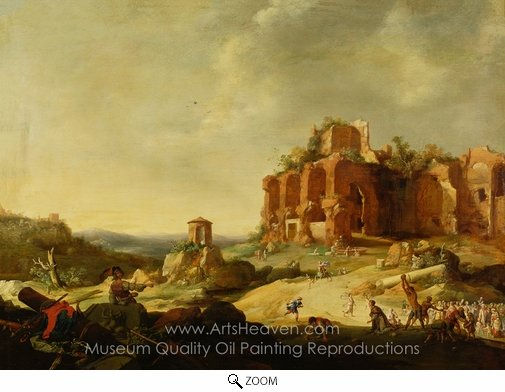 Bartholomeus Breenbergh, The Stoning of St. Stephen oil painting reproduction