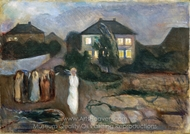 The Storm painting reproduction, Edvard Munch