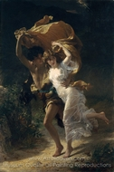 The Storm painting reproduction, Pierre-Auguste Cot