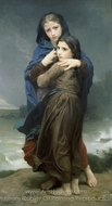 The Storm (L'Orage) painting reproduction, William A. Bouguereau