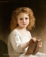 The Story Book painting reproduction, William A. Bouguereau