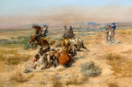 The Strenuous Life painting reproduction, Charles Marion Russell