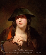 The Student painting reproduction, Thomas Sully