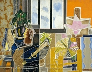 The Studio (Vase before a Window) painting reproduction, Georges Braque
