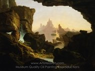 The Subsiding of the Waters of the Deluge painting reproduction, Thomas Cole