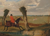 The Suffolk Hunt, Full Cry painting reproduction, John Frederick Herring Sr.