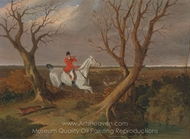 The Suffolk Hunt, Gone Away painting reproduction, John Frederick Herring Sr.