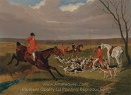 The Suffolk Hunt, The Death painting reproduction, John Frederick Herring Sr.