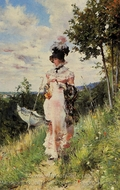 The Summer Stroll painting reproduction, Giovanni Boldini