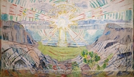 The Sun painting reproduction, Edvard Munch