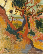 The Sunken Path, L'Estaque painting reproduction, Andre Derain