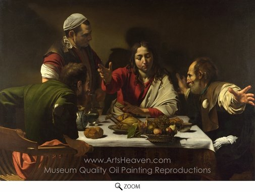 Caravaggio, The Supper at Emmaus oil painting reproduction