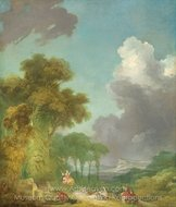 The Swing painting reproduction, Jean-Honore Fragonard