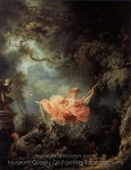 The Swing painting reproduction, Jean Honore Fragonard