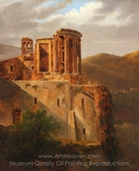 The Temple of Vesta, Tivoli painting reproduction, French Painter