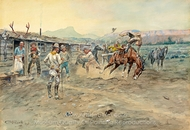 The Tenderfoot painting reproduction, Charles Marion Russell