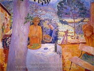 The Terrace at Vernonnet painting reproduction, Pierre Bonnard
