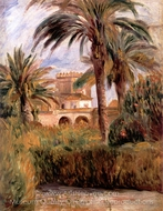 The Test Garden in Algiers painting reproduction, Pierre-Auguste Renoir