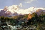 The Teton Range painting reproduction, Thomas Moran