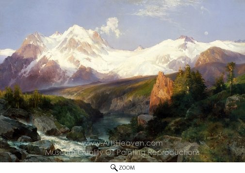 Thomas Moran, The Teton Range oil painting reproduction