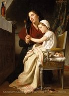The Thank Offering painting reproduction, William A. Bouguereau