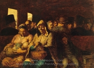 The Third-Class Carriage painting reproduction, Honore Daumier