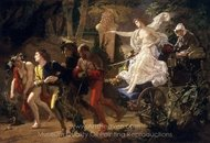 The Thorny Path painting reproduction, Thomas Couture
