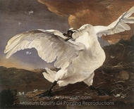 The Threatened Swan painting reproduction, Jan Asselyn