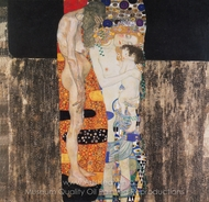 The Three Ages of Woman painting reproduction, Gustav Klimt