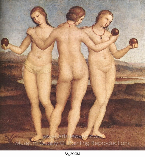 Raphael Sanzio, The Three Graces oil painting reproduction