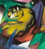 The Tiger painting reproduction, Franz Marc