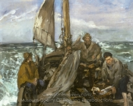 The Toilers of the Sea painting reproduction, Édouard Manet