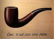The Treachery of Images painting reproduction, Rene Magritte (inspired by)