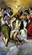The Holy Trinity painting reproduction, El Greco