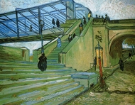 The Trinquetaille Bridge painting reproduction, Vincent Van Gogh