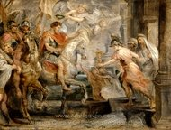 The Triumphant Entry of Constantine into Rome painting reproduction, Peter Paul Rubens