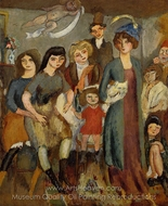 The Turkish Family painting reproduction, Jules Pascin