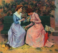 The Two Bouquets painting reproduction, Federico Zandomeneghi