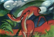 The Two Deers painting reproduction, Franz Marc