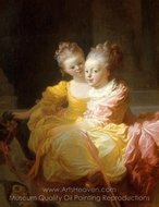 The Two Sisters painting reproduction, Jean-Honore Fragonard