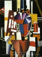 The Typographer painting reproduction, Fernand Leger
