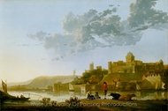The Valkhof at Nijmegen painting reproduction, Aelbert Cuyp